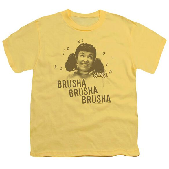 Grease Brusha Brusha Brusha Short Sleeve Youth T-Shirt