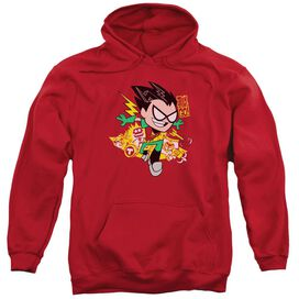 Teen Titans Go Robin Adult Pull Over Hoodie
