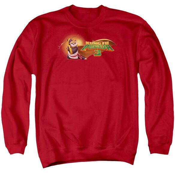 Kung Fu Panda Po Logo Adult Crewneck Sweatshirt