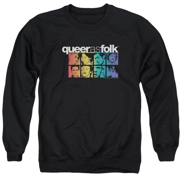 Queer As Folk Cast Adult Crewneck Sweatshirt