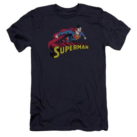Superman Flying Over Premuim Canvas Adult Slim Fit