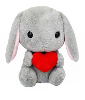 Gray Bunny with Heart Amuse Plush