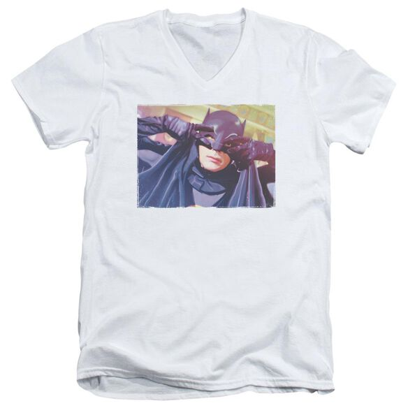 Batman Classic Tv Smooth Groove Short Sleeve Adult V Neck T-Shirt