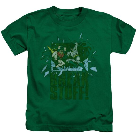 Dc Break Stuff Short Sleeve Juvenile Kelly Green T-Shirt