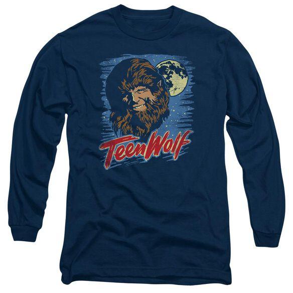 Teen Wolf Moon Wolf Long Sleeve Adult T-Shirt