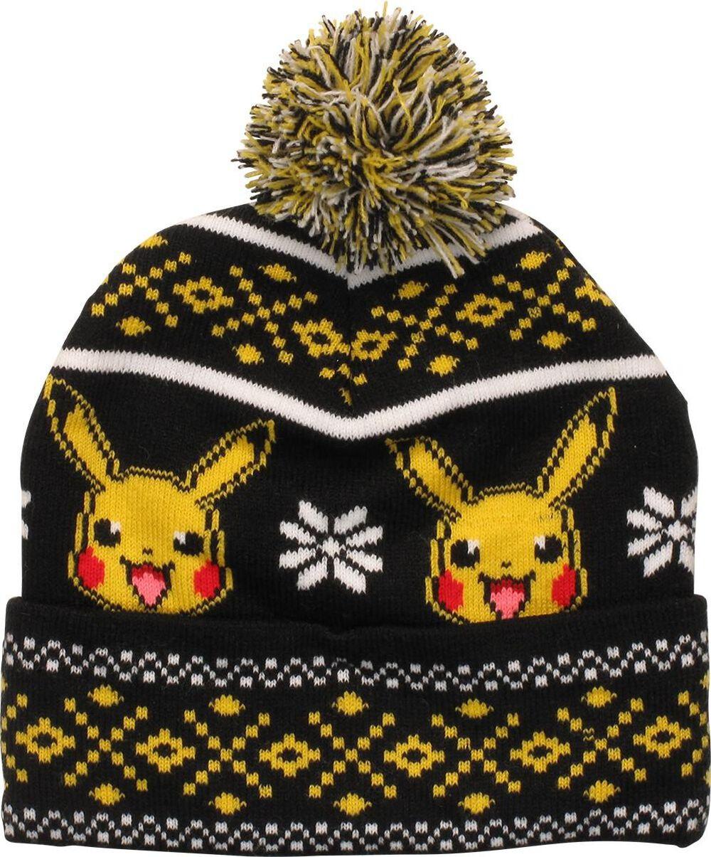 eaf39c5507b Images. Pokemon Pikachu Fair Isle Cuff Pom Beanie