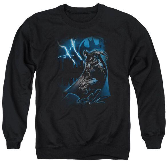 Batman Lightning Strikes Adult Crewneck Sweatshirt