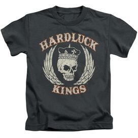 Hardluck Kings Red Cream Distressed Short Sleeve Juvenile T-Shirt