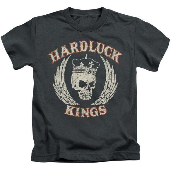 Hardluck Kings Red Cream Distressed Short Sleeve Juvenile T-Shirt