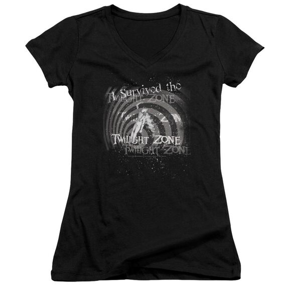 Twilight Zone I Survived Junior V Neck T-Shirt