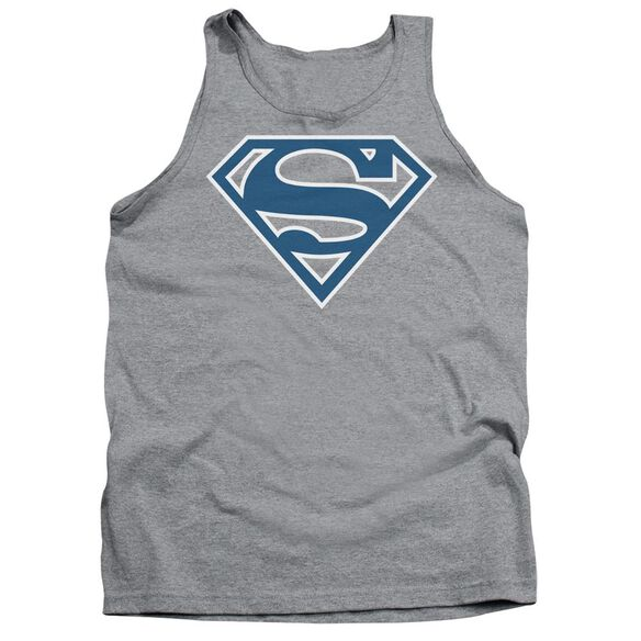 Superman Blue & White Shield Adult Tank Athletic