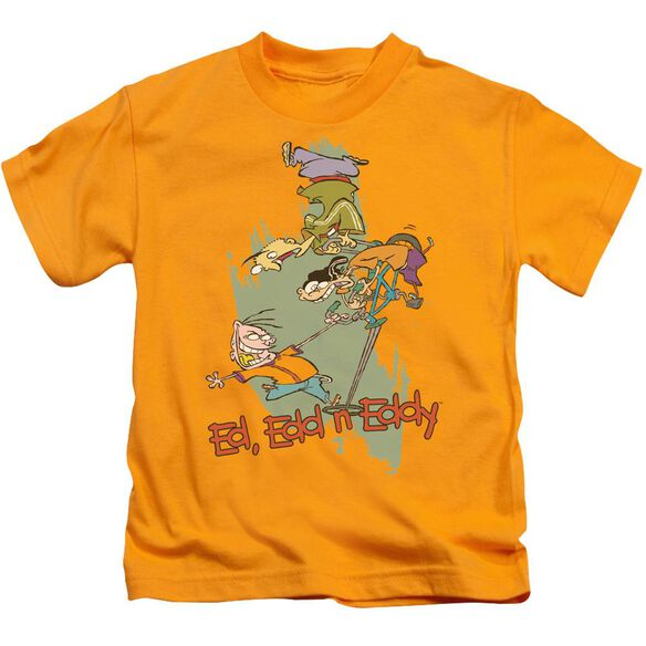 Ed Edd N Eddy Free Fall Short Sleeve Juvenile Gold T-Shirt