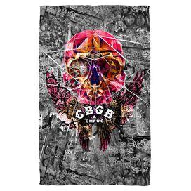 Cbgb Flying Skull Towel White