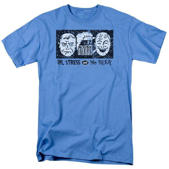 Dr Stress And Mr Beer Short Sleeve Adult Carolina T-Shirt