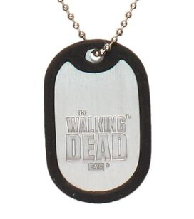 Walking Dead Keep Calm and Call Michonne Dog Tag