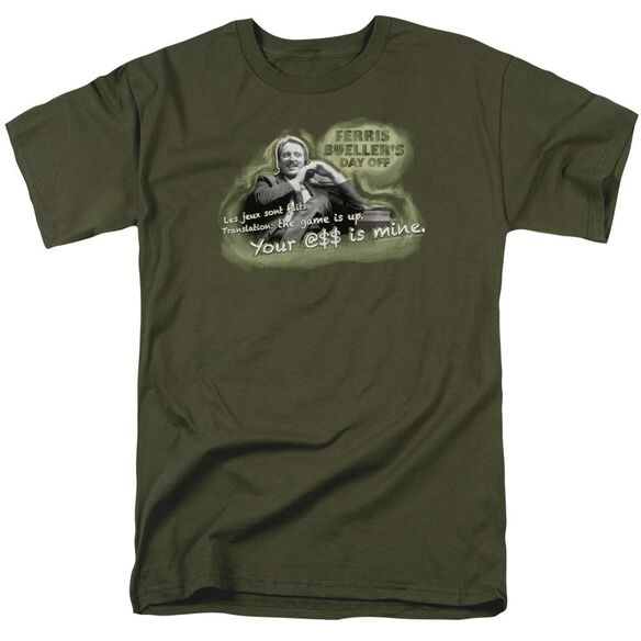 Ferris Bueller Mr. Rooney Short Sleeve Adult Military Green T-Shirt