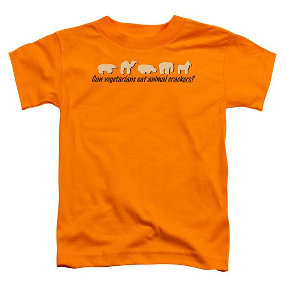Animal Crackers Short Sleeve Toddler Tee Orange Sm T-Shirt