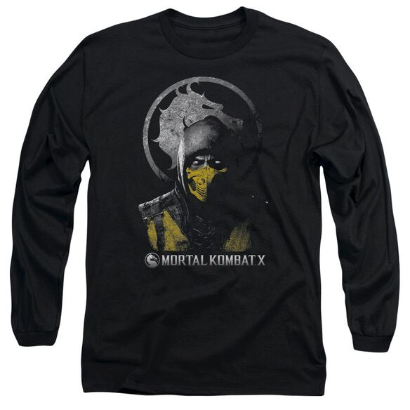Mortal Kombat Scorpion Bust Long Sleeve Adult T-Shirt
