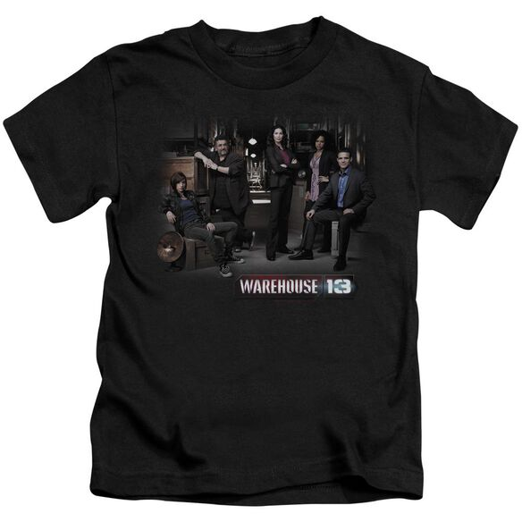 Warehouse 13 Warehouse Cast Short Sleeve Juvenile Black Md T-Shirt