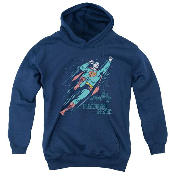 Superman Frequent Flyer Youth Pull Over Hoodie