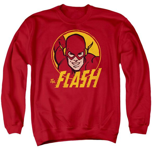 Dc Flash Circle Adult Crewneck Sweatshirt