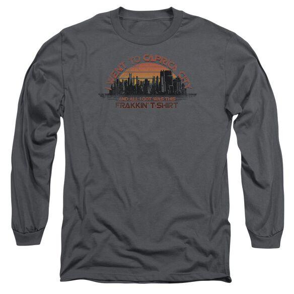 BSG CAPRICA CITY - L/S ADULT 18/1 - CHARCOAL T-Shirt