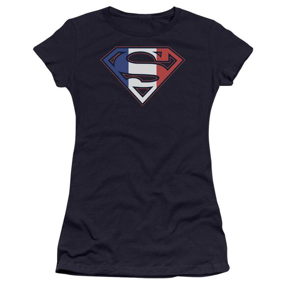 Superman French Shield Premium Bella Junior Sheer Jersey