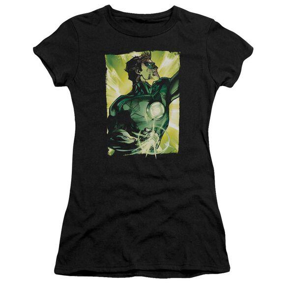 Green Lantern Up Up Short Sleeve Junior Sheer T-Shirt