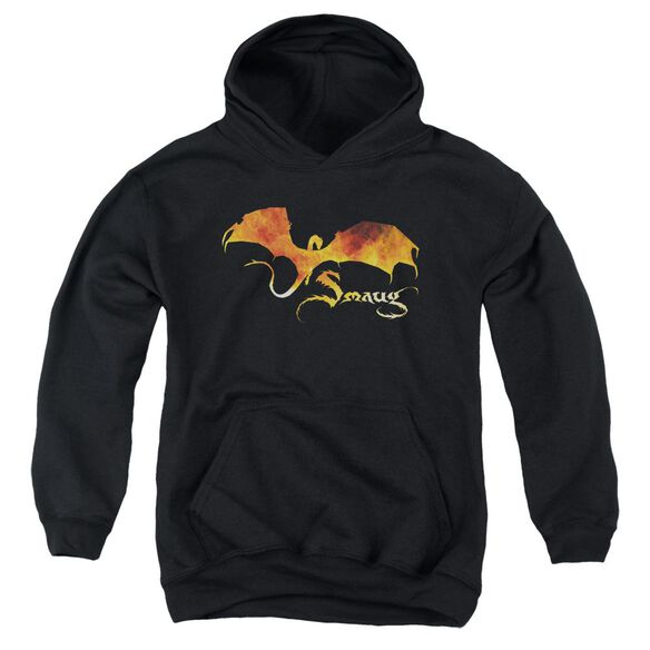 Hobbit Smaug On Fire Youth Pull Over Hoodie