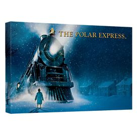 Polar Express Poster Canvas Wall Art With Back Board
