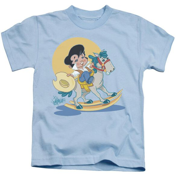 Elvis Yip E Short Sleeve Juvenile Light Blue T-Shirt