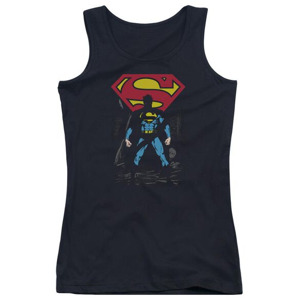 Superman Dark Alley Juniors Tank Top
