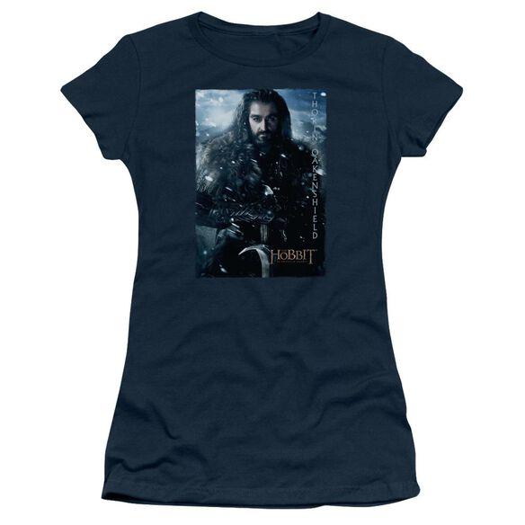 The Hobbit Thorin Poster Short Sleeve Junior Sheer T-Shirt