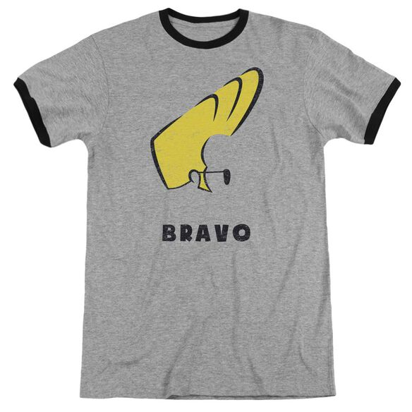 Johnny Bravo Johnny Hair Adult Ringer Heather Black