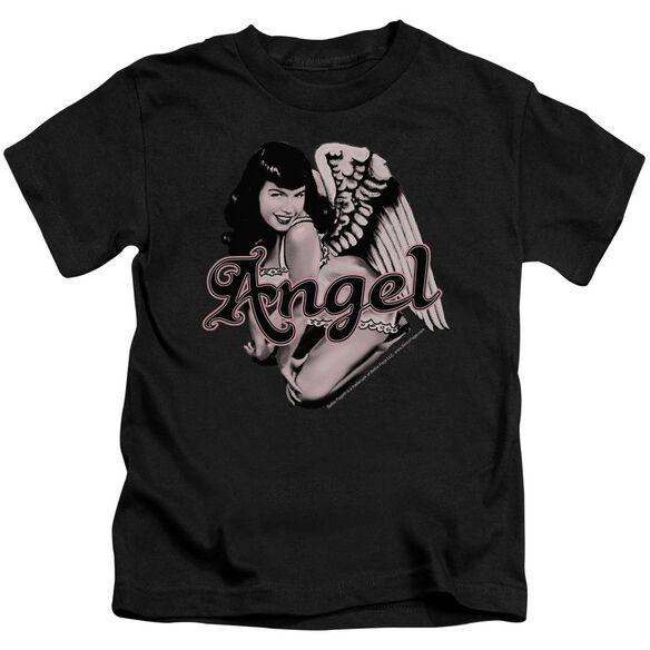 Bettie Page Bettie Angel Short Sleeve Juvenile Black T-Shirt