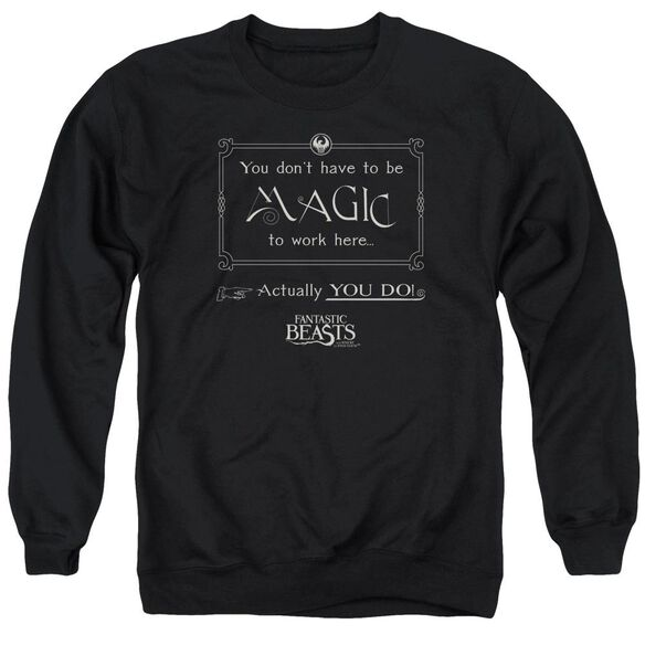 Fantastic Beasts Magic To Work Here Adult Crewneck Sweatshirt