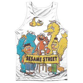 Sesame Street Block Party Adult Poly Tank Top