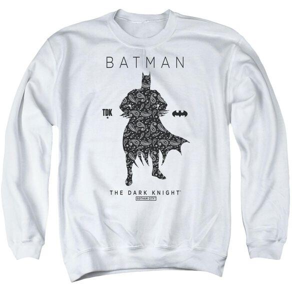 Batman Paislety Silhouette Adult Crewneck Sweatshirt