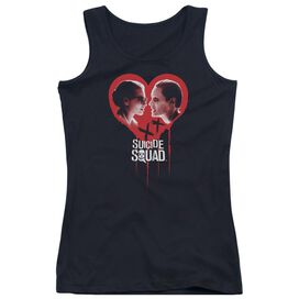 Suicide Squad Joker Spits Game Juniors Tank Top