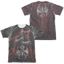 Anne Stokes Rock God (Front Back Print) Adult Poly Cotton Short Sleeve Tee T-Shirt