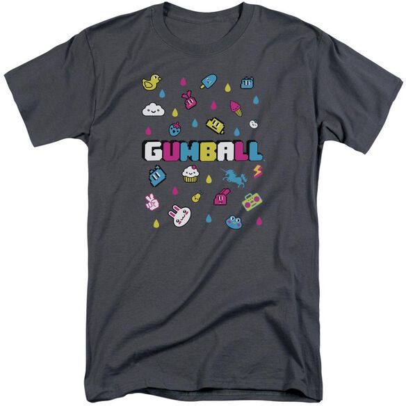 Amazing World Of Gumball Fun Drops Short Sleeve Adult Tall T-Shirt
