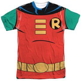 Batman The Animated Series Robin Uniform Short Sleeve Adult Poly Crew T-Shirt
