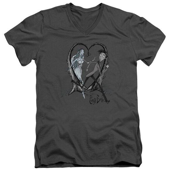 Corpse Bride Runaway Groom Short Sleeve Adult V Neck T-Shirt