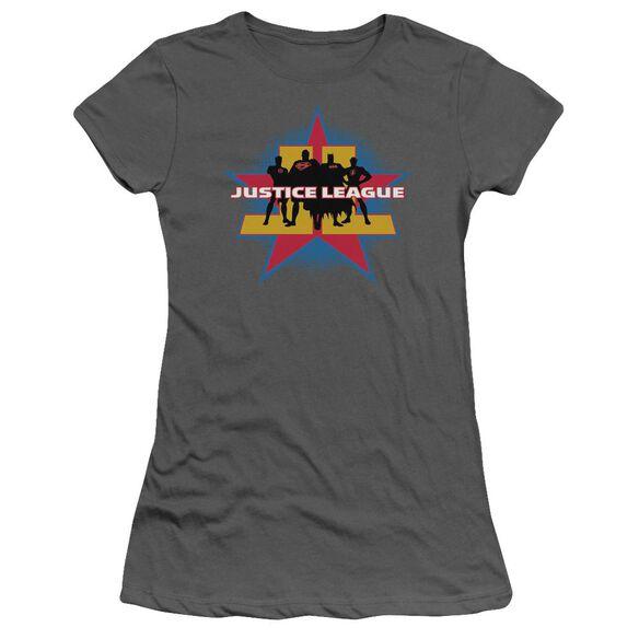 Jla Stand Tall Short Sleeve Junior Sheer T-Shirt