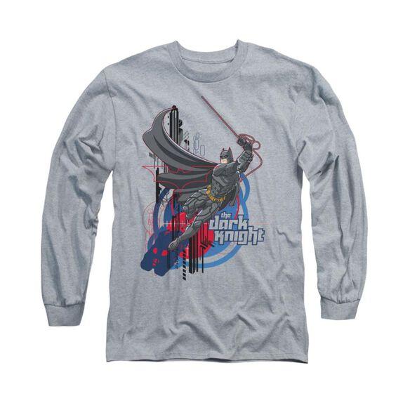 Dark Knight Swinging Dark Knight Long Sleeve Adult Athletic T-Shirt