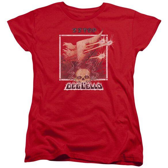 Zz Top Deguello Cover Short Sleeve Womens Tee T-Shirt