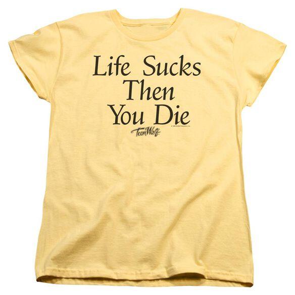 Teen Wolf Life Sucks Short Sleeve Womens Tee T-Shirt