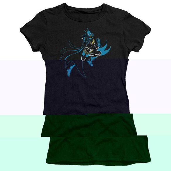 BATMAN NEON BATMAN - S/S JUNIOR SHEER - BLACK T-Shirt