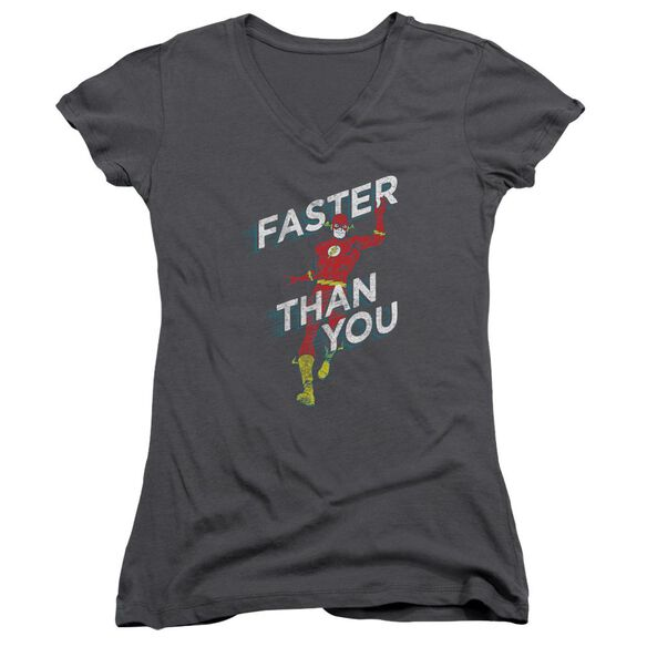 Dc Faster Than You Junior V Neck T-Shirt