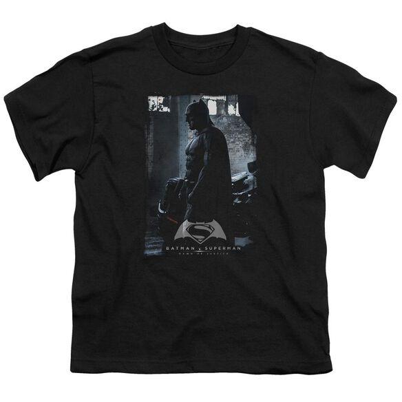 Batman V Superman Bat Poster Short Sleeve Youth T-Shirt